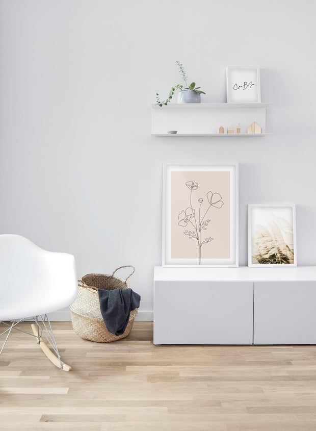 Blowing Grasses modern minimalist photography poster by Opposite Wall - Living room