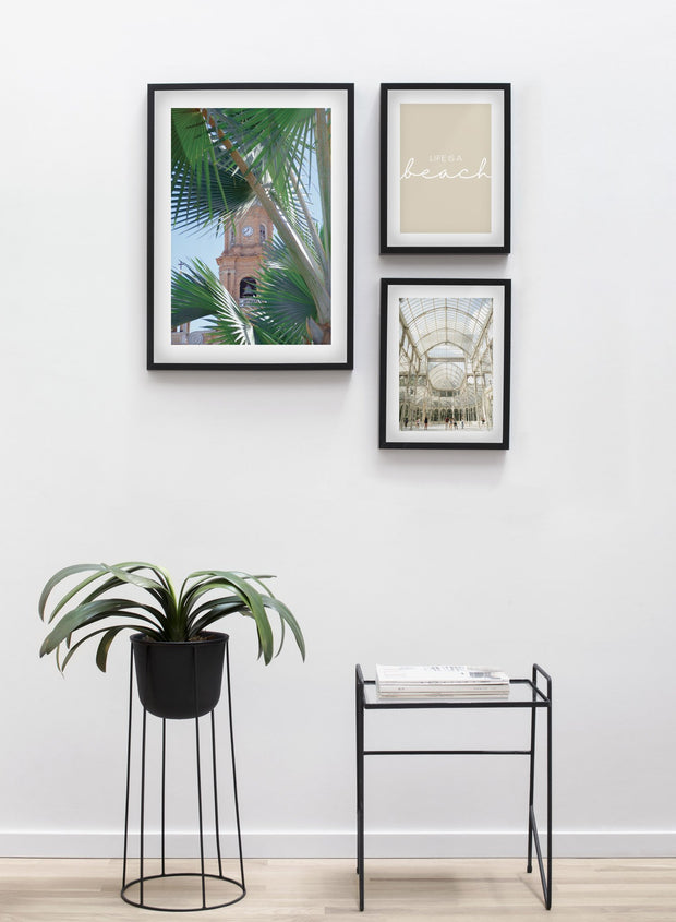 Southern Monument modern minimalist photography poster by Opposite Wall - Living room - Trio