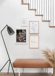 Bright Wildflowers modern minimalist photography poster by Opposite Wall - Living room