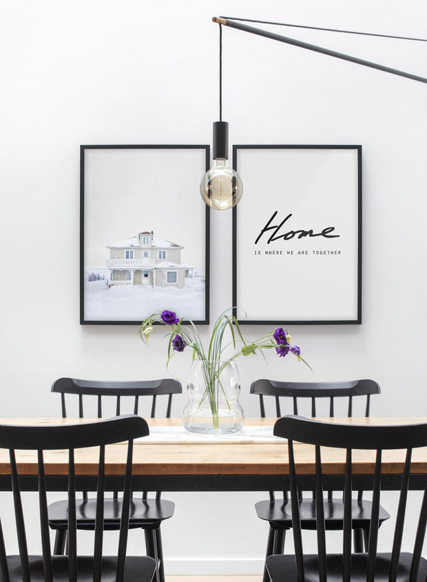 A Winter Home modern minimalist photography poster by Opposite Wall - Dining room