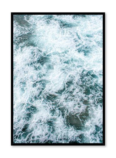 Modern minimalist art print by Opposite Wall with Swirl blue water photography