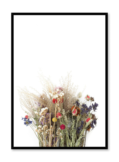 Scandinavian Photography Poster with dried flower bouquet