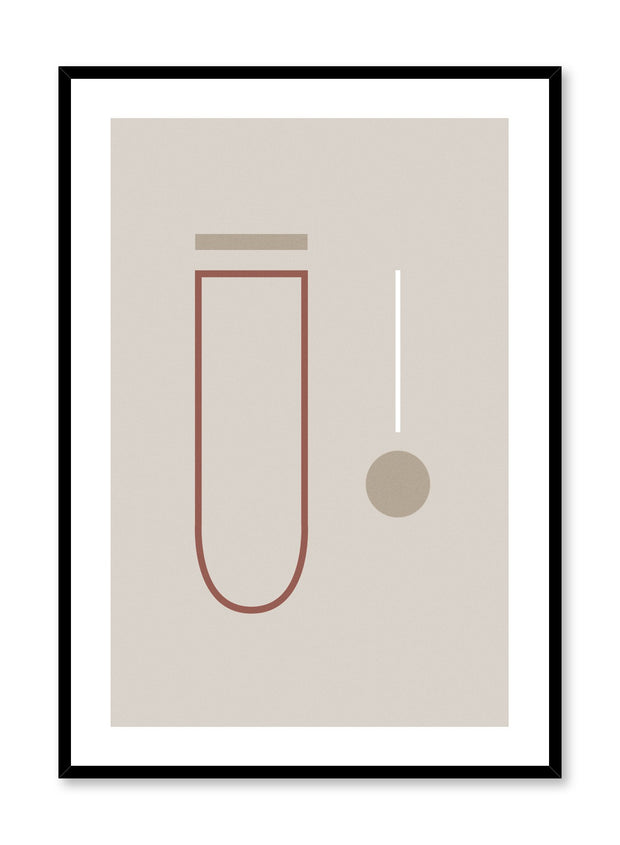 Modern minimalist poster by Opposite Wall with Reminiscent abstract design
