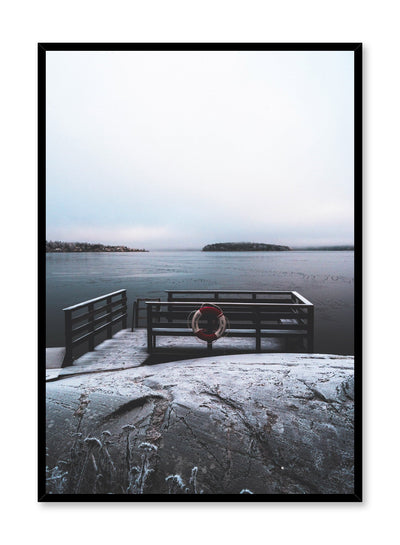 Minimalist design poster by Opposite Wall with winter lake photography