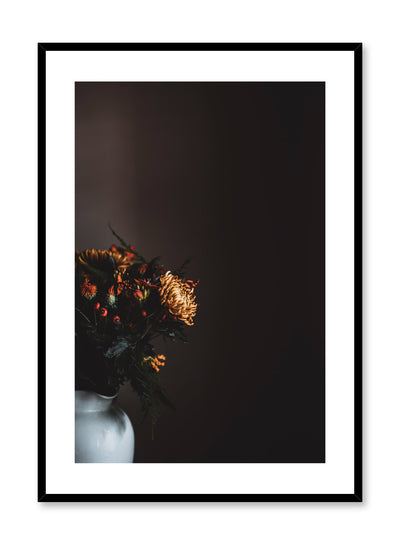 Minimalist design poster by Opposite Wall with Orange Tinted Flower Bouquet photography