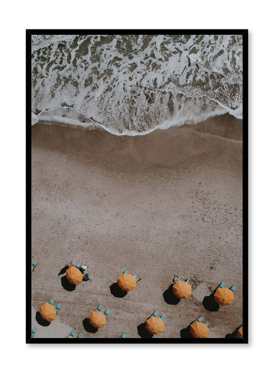 Minimalist design poster by Opposite Wall with aerial beach photography
