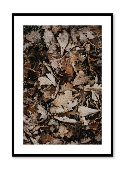 Minimalist design poster by Opposite Wall with Autumn Leaves photography
