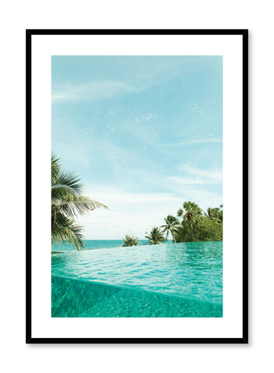 Minimalist design poster by Opposite Wall with photography of palm tree beside pool