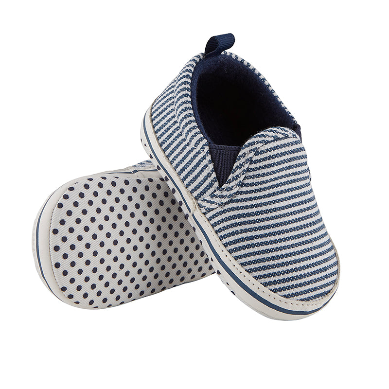 Baby Slip-on Canvas Shoe in Navy Stripe (6-12m)