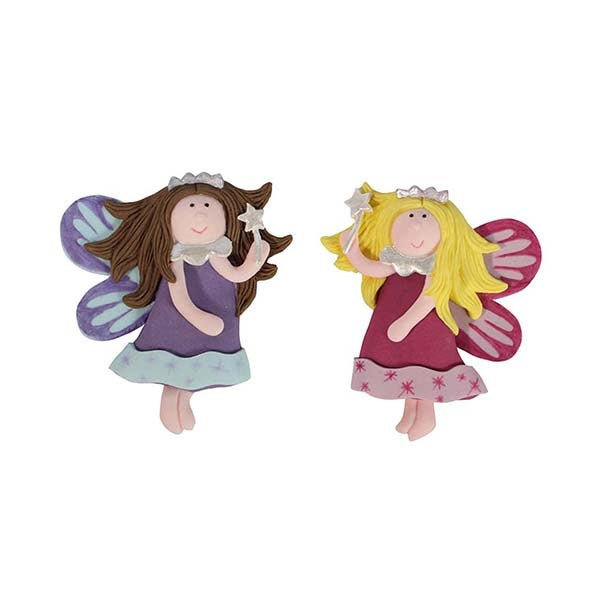 Kids - Fairies with Wands Cake Topper