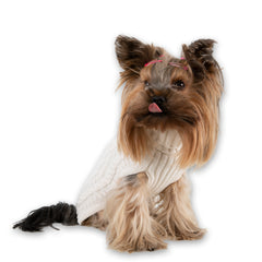 Bali the Dog dog sweater in 100% merino wool, cable knit sweater in premium quality for all dog fashionistas