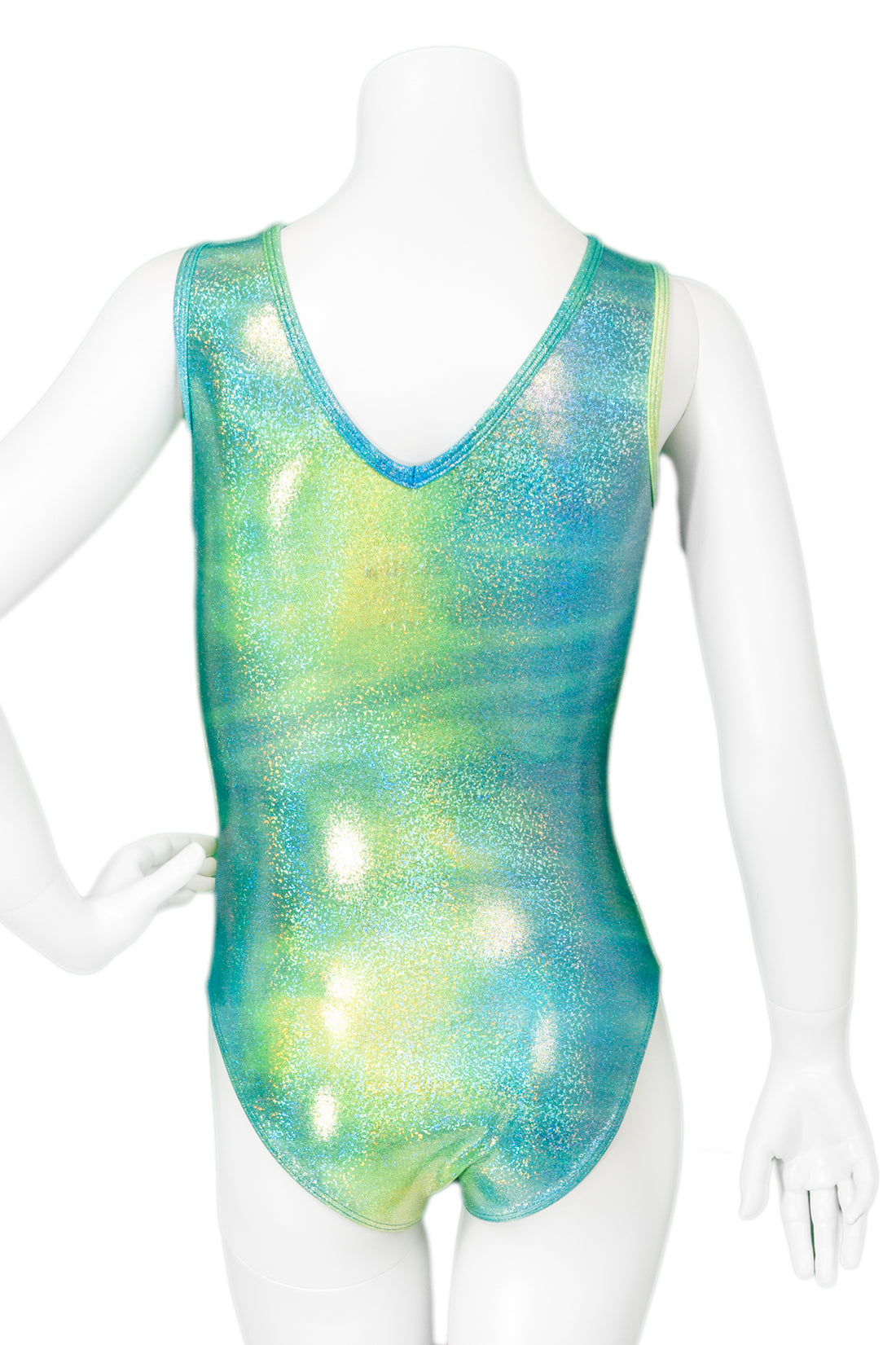 Turquoise and Lime Twinkle Leotard