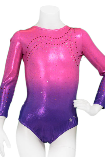 Starlight Berry Ombre Long Sleeve Leotard