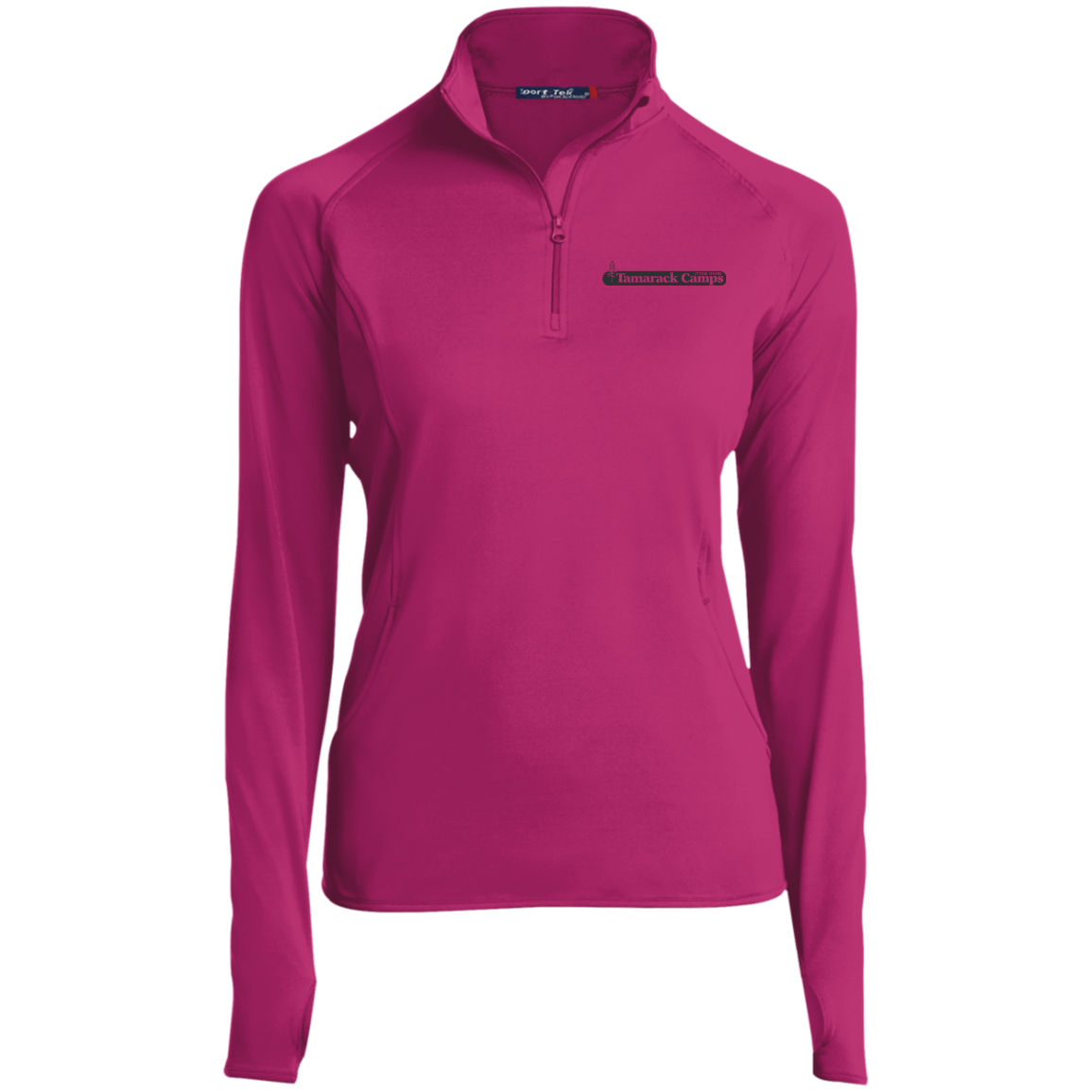 Ladies 1/2 Zip Performance Pullover- Black Logo