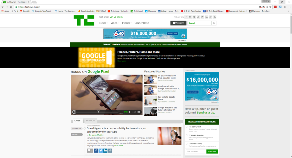 In the News: TechCrunch.com