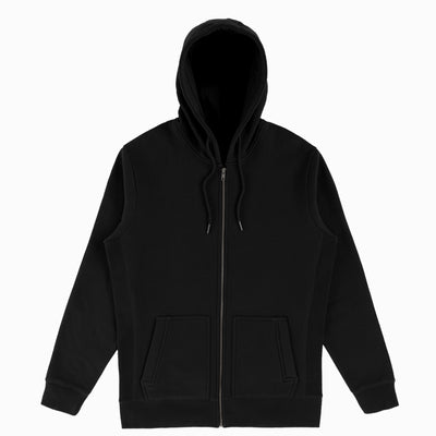 Black Organic Cotton Zip-Up Sweatshirt