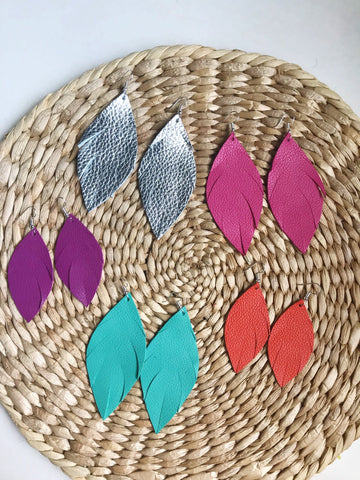 Summer Collection - Long Feather Earrings