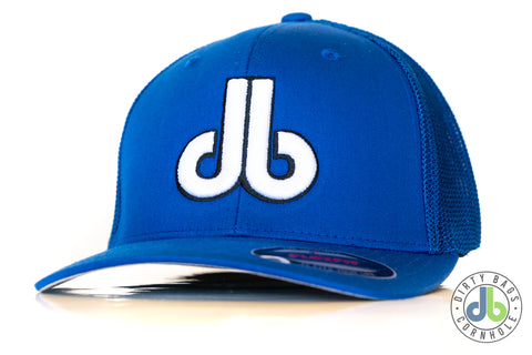 db Hat – Blue on Blue Mesh Flexfit
