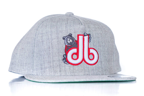 Jersey Guy db Hat - Heather Gray and Red