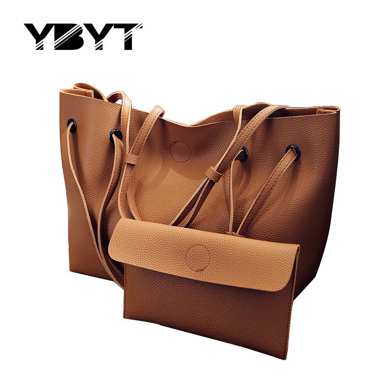 2017 New Large Capacity Soft and Fresh Shoulder Bag/Clutch Set