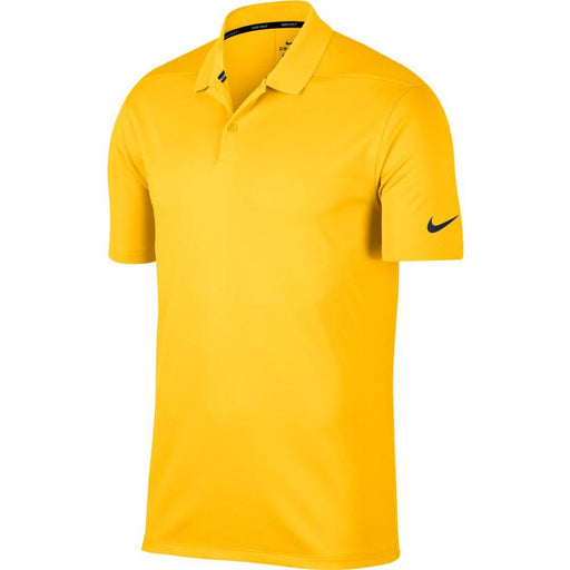 Nike Dri FIT Polo Victory Solid 891881 Amarillo/Black 728 - HowardsGolf