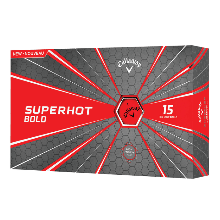 Callaway SuperHot Bold 18 Golf Balls 15 PK - HowardsGolf