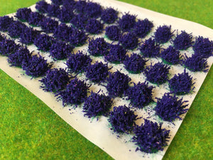 Large Purple Flower Tufts 6mm