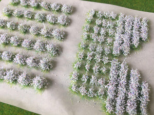 White Accent Mixed Garden Flower Tufts