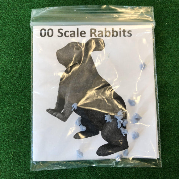 Serious-Play 00 Scale Rabbits- Resin Animals