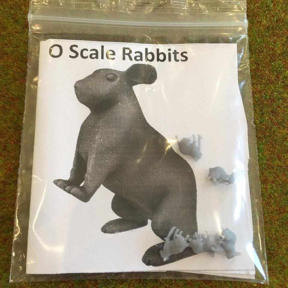 Serious-Play 0 Scale Rabbits- Resin Animals