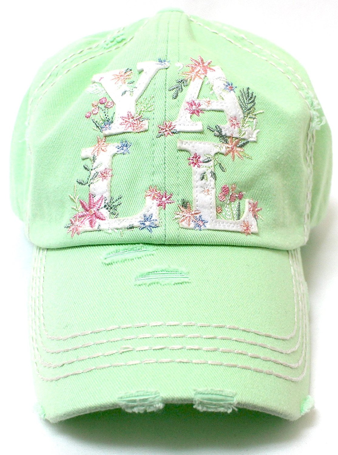 LILAC & FRESH MINT GREEN Women's Hey Y'all Spring Floral Cap - Caps 'N Vintage