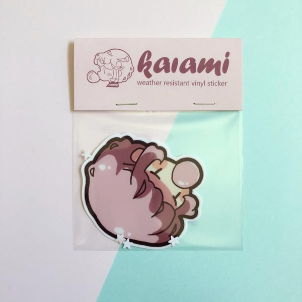 bubblegum kaia big vinyl sticker
