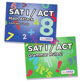 AdVANCE SAT I / ACT Math & Grammar Flashcards Bundle
