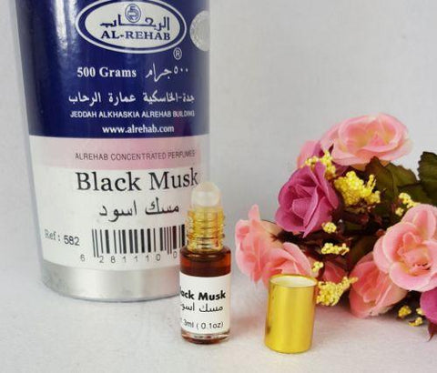 Al Rehab BLACK Musk Oil Perfume Wild Deer Musk Base Roll-on 3ml