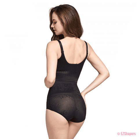 Contouring Bodysuit Shaper With Lace Detail