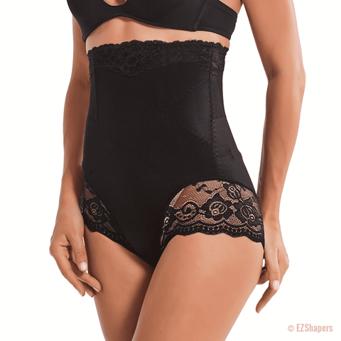 Image of Slimming Tummy Waist Trainer with Lace Detail