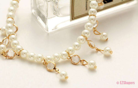 Image of Bohemian Imitation Pearl Anklets