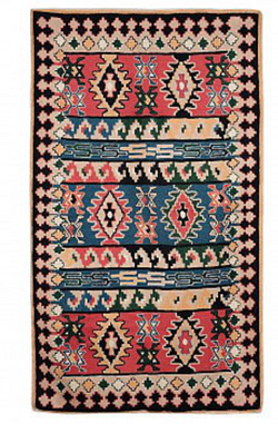 Tribal Kilim Chainstitch Rug