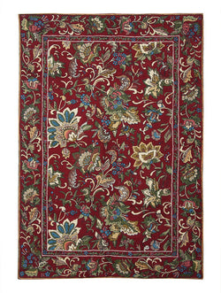 RL Chintz Maroon Chainstitch Rug