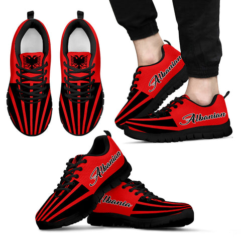 Albanian Sneakers inspired by the Albanian Flag For Men And Women Created by 1sttheworld