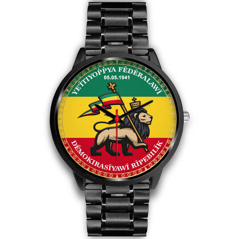 Image of Ethiopia Lion Judah Black Watch | High Quality | Hot Sale