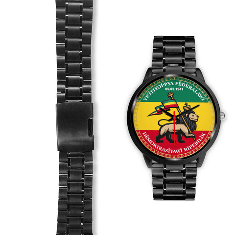 Ethiopia Lion Judah Black Watch | High Quality | Hot Sale