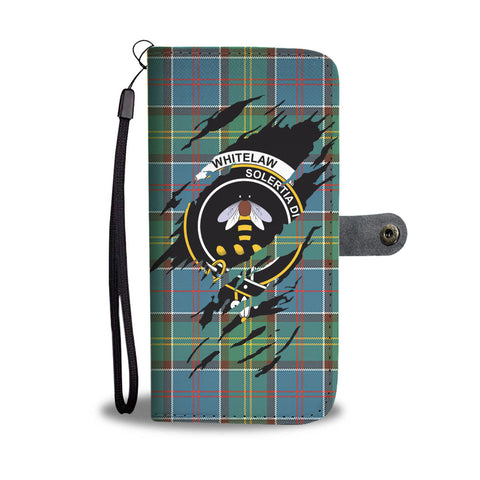 Whitelaw Tartan Wallet Phone Case In Me Clan Badge K7