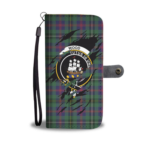 Wood Tartan Wallet Phone Case In Me Clan Badge K7