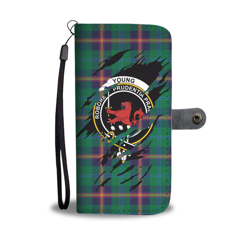 Young Tartan Wallet Phone Case In Me Clan Badge K7