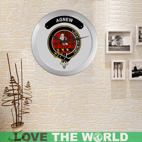 Image of Agnew Clan Tartan Wall Clock  - Love The World