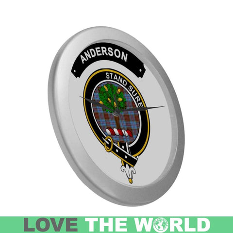 Image of Anderson Clan Tartan Wall Clock  - Love The World