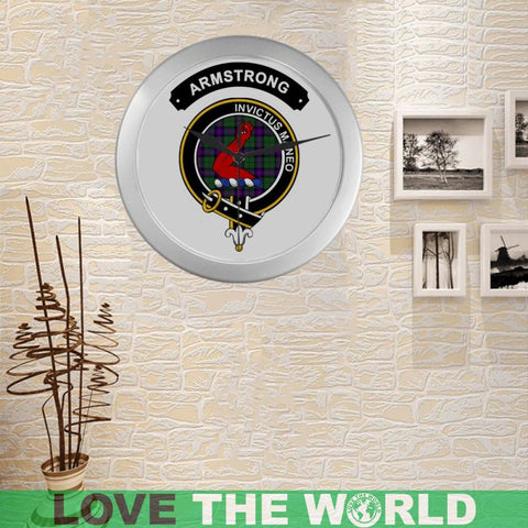 Image of Armstrong Clan Tartan Wall Clock  - Love The World