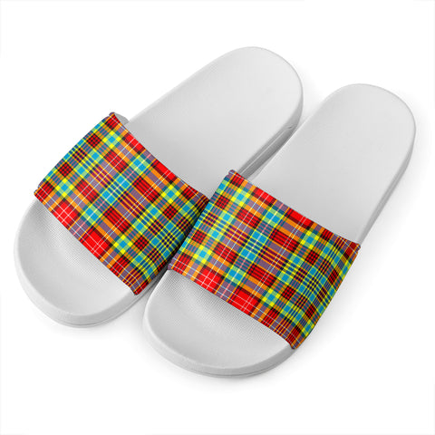 Ogilvie Tartan Slide Sandals - White Version