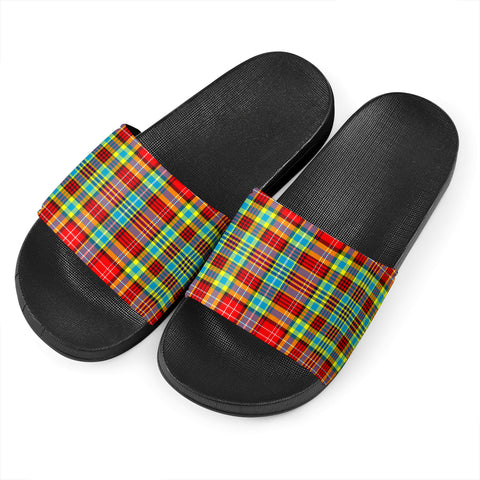Ogilvie Tartan Slide Sandals - Black Version